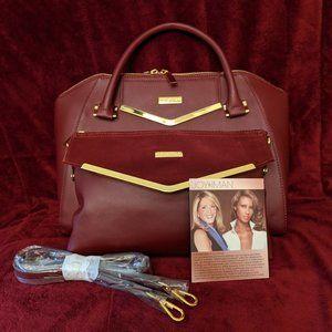 Joy & Iman Satchel/Shoulder Strap/Clutch NWOT Bag